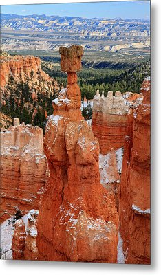 View Of Thor's Hammer In Bryce Canyon Metal Print by Pierre Leclerc Photography
