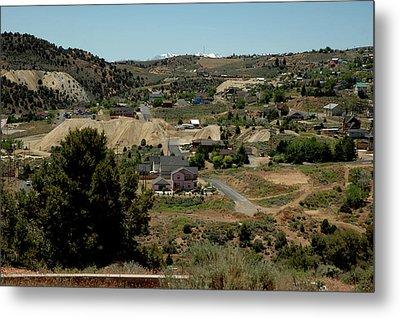View Of Virginia City Home Of The Com Stock Lode Metal Print by LeeAnn McLaneGoetz McLaneGoetzStudioLLCcom