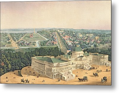 View Of Washington Dc Metal Print by Edward Sachse