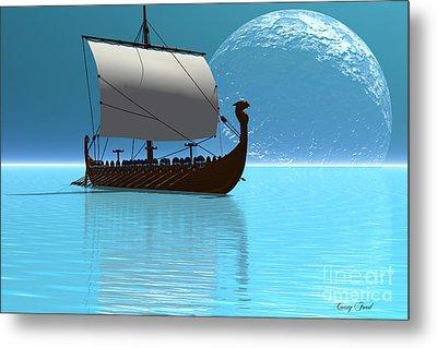 Viking Ship 2 Metal Print by Corey Ford