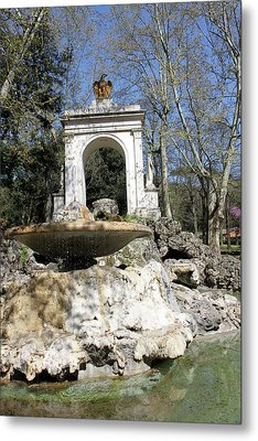 Villa Borghese River Metal Print by Munir Alawi