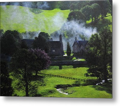 Village In North Wales Metal Print by Harry Robertson