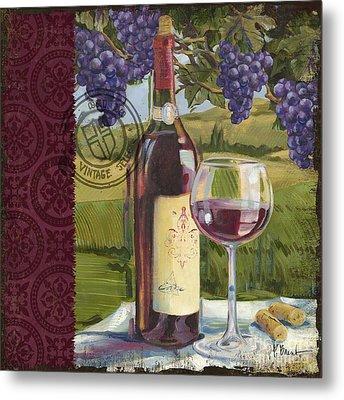 Vineyard Wine Tasting Collage I Metal Print by Paul Brent