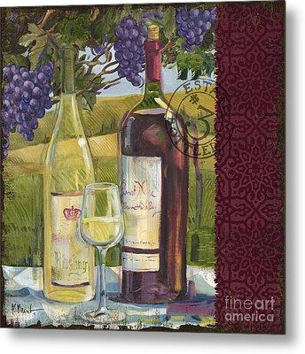 Vineyard Wine Tasting Collage II Metal Print by Paul Brent