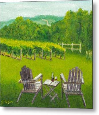 Vineyards Of Sogn Valley Metal Print by Susan Fuglem
