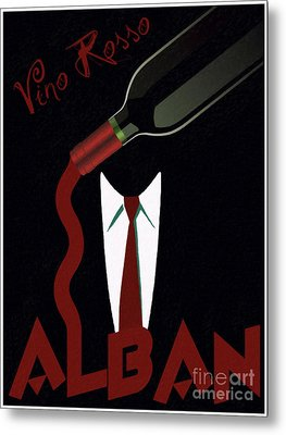 Vino Rosso  Metal Print by Cinema Photography