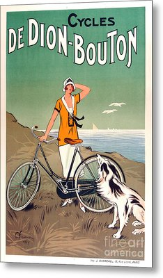 Vintage Bicycle Advertising Metal Print by Mindy Sommers