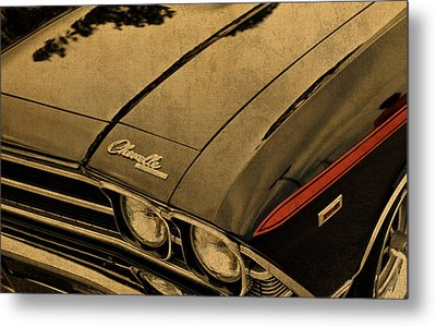 Vintage Chevrolet Chevelle Hood Metal Print by Design Turnpike