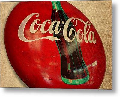 Vintage Coca Cola Sign Metal Print by Design Turnpike