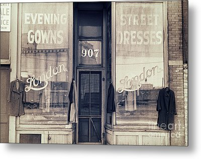 Vintage Dress Shop Metal Print by Mindy Sommers