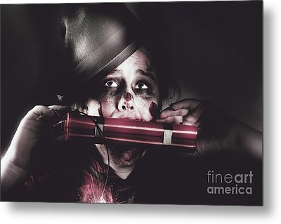 Vintage Evil Dead Terrorist With Explosives Metal Print by Jorgo Photography - Wall Art Gallery