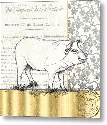 Vintage Farm 2 Metal Print by Debbie DeWitt