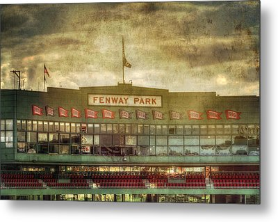 Vintage Fenway Park - Boston Metal Print by Joann Vitali