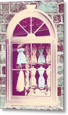 Vintage French Corset Shop Metal Print by Mindy Sommers