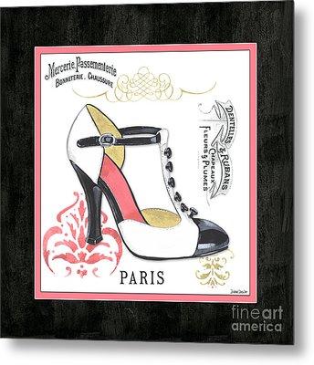 Vintage French Shoes 1 Metal Print by Debbie DeWitt