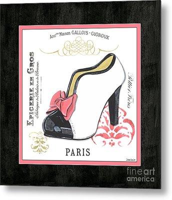 Vintage French Shoes 2 Metal Print by Debbie DeWitt