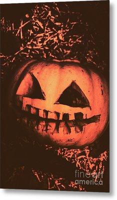 Vintage Horror Pumpkin Head Metal Print by Jorgo Photography - Wall Art Gallery