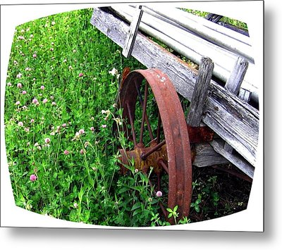 Vintage Irrigation Wagon Metal Print by Will Borden