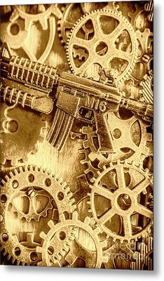 Vintage M16 Artwork Metal Print by Jorgo Photography - Wall Art Gallery