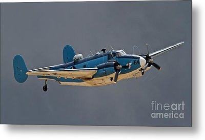 Vintage Naval Twin With Proptip Vortices 2011 Chino Planes Of Fame Air Show Metal Print by Gus McCrea