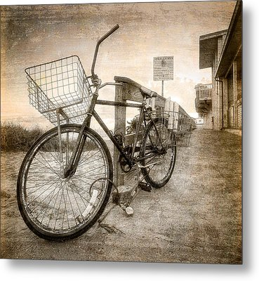 Vintage Ol' Bike Metal Print by Debra and Dave Vanderlaan