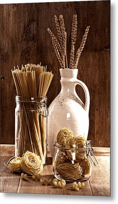 Vintage Pasta  Metal Print by Amanda And Christopher Elwell