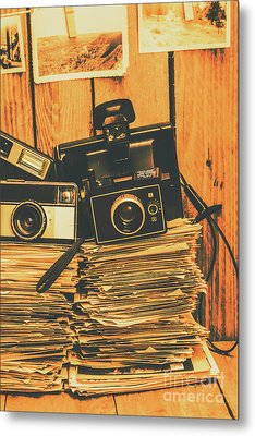 Vintage Photography Stack Metal Print by Jorgo Photography - Wall Art Gallery