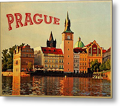 Vintage Prague Metal Print by Flo Karp