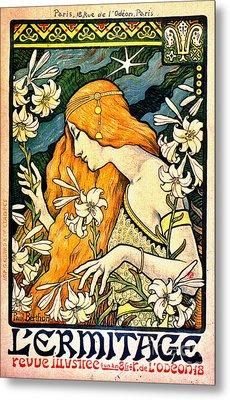 Vintage Promotional Poster 1897 Metal Print by Padre Art