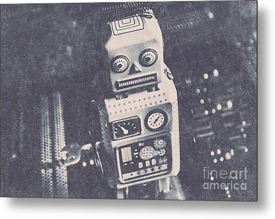 Vintage Robot Toy Metal Print by Jorgo Photography - Wall Art Gallery