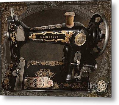 Vintage Sewing Machine Metal Print by Mindy Sommers