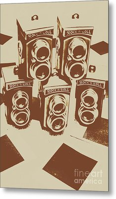 Vintage Snapshots And Old Cameras Metal Print by Jorgo Photography - Wall Art Gallery
