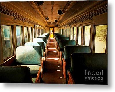 Vintage Train Passenger Car 5d28306brun Metal Print by Home Decor