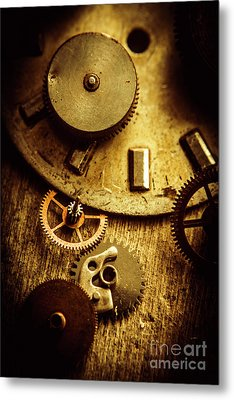 Vintage Watch Parts Metal Print by Jorgo Photography - Wall Art Gallery