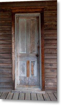 Vintage Wood Door  Metal Print by Terry DeLuco