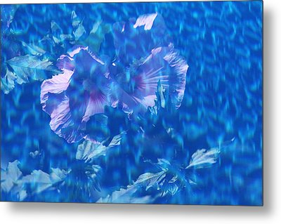 Violet Satin Reflections Metal Print by Debbie Oppermann