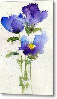 Violets Metal Print by Anne Duke