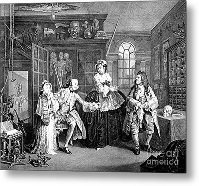 Visit To The Quack Doctor, 1745 Metal Print by Science Source