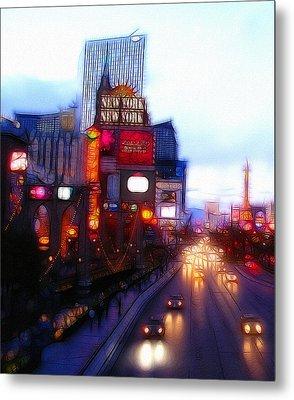 Viva Las Vegas Painting Metal Print by Steve K