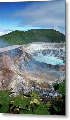 Volcan Poas Metal Print by Kryssia Campos