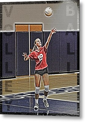 Volleyball Girl Metal Print by Kelley King