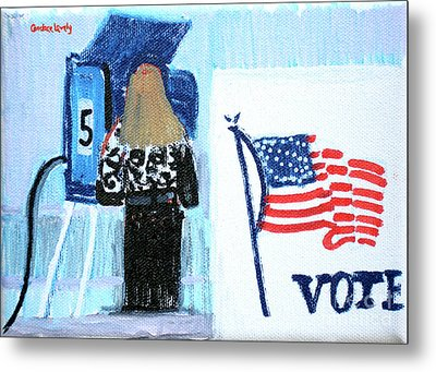 Voting Booth 2008 Metal Print by Candace Lovely