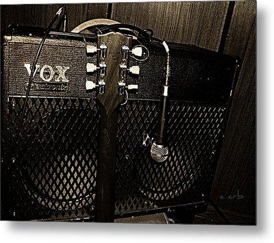 Vox Amp Metal Print by Chris Berry