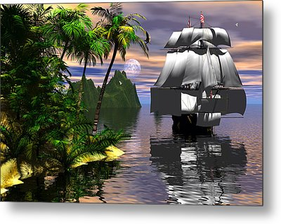 Voyage Of Captain Cook Metal Print by Claude McCoy