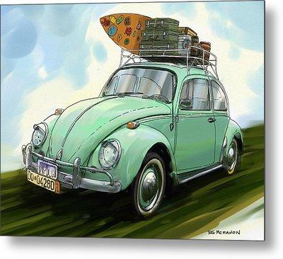 Vw Beach Bug Metal Print by RG McMahon