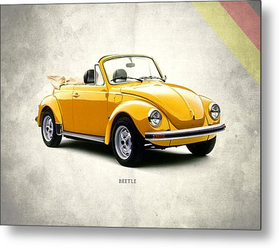 Vw Beetle 1972 Metal Print by Mark Rogan
