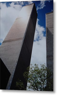 W T C 1 And 2 Metal Print by Rob Hans