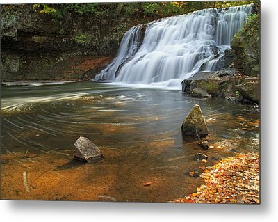 Wadsworth Falls Metal Print by David Freuthal