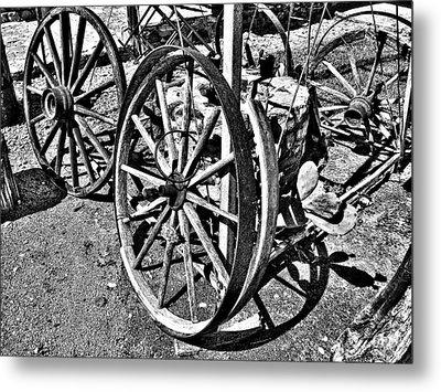 Wagon Wheel Graveyard Metal Print by Douglas Barnard