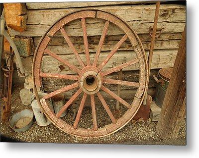 Wagon Wheel Metal Print by Jeff Swan
